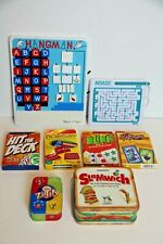 Mixed Lot of 9 kids table card games hangman maze toy VGUC