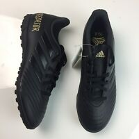 Adidas Predator 19.4 TF Turf Soccer Shoes Black Gold Men's Size 7.5 F35635 NEW