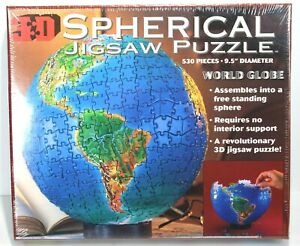 Spherical 3D Jigsaw Puzzle By Buffalo Games World Globe 530 Pieces New Sealed