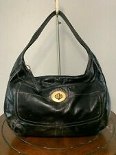 COACH Ergo Black Patent Leather Hobo Shoulder Carry-all Tote Purse Bag 11009
