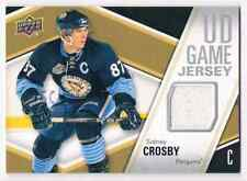 2011-12 UPPER DECK UD GAME JERSEY SIDNEY CROSBY JERSEY 1 COLOR GROUPB PITTSBURGH