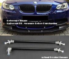 """Black 9.5"""" Bumper Lip Diffuser Spoiler Splitter Strut Support Rod Bar for VW Po"""