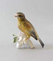 9997649 Porcelain Figurine Bird Grünfink Ens H13cm