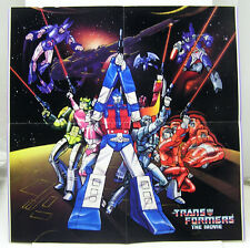 """1986 TRANSFORMERS THE MOVIE Poster (ANIMATED) 16.25""""x16.25"""" (TRFPO001)"""