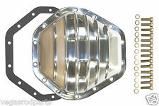Differential Cover GM 10.5 ring 14 bolt Chevy GMC polished aluminum truck  rear