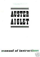 Auster  Aiglet J V maintenance instruction manual rare detailed period archive