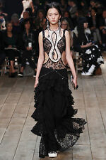 Alexander McQueen Runway Ruffled Jacket Lace Tiered Dress Stunning 38 IT $6,400