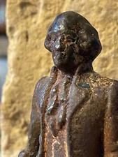 Circa Mid-1800'S Fine Small Iron Statuette George Washington.