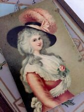 Antique Tintype Rare Photo of a Painting Marie Antoinette Signed Germany