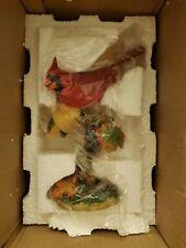 Danbury Mint Autumn Treat by Bob Guge Cardinal .New in box J27