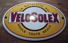 Plaque Emaille Ovale 12cm x 8cm La Bycyclette qui roule (Neuf) - Solex Velosolex