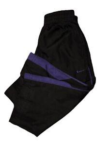 Vintage NIKE Official NBA Boys Toddler Athletic Pants Sz 12 Mths Black & Purple