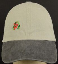 Possibly Tomato or Cherry Bush Logo Tan Baseball Hat Cap and Adjustable Strap