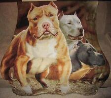 New Pitbull Terrier Soft & Light Fleece Throw Gift Blanket Pit Bull Dog Photo