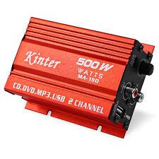 Kinter MA-150 AMP USB Hi-Fi Digital Stereo Amplifier 500W For Car Motorcycle