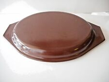 PYREX LID 945-C BROWN FOR LARGE OVAL CASSEROLES EXCELLENT CONDITION