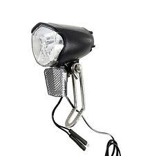 LED Fahrradlampe 70 Lux Frontlampe Scheinwerfer Nabendynamo StVZO Standlicht