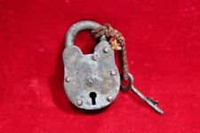 Iron Lock and Key Old Vintage Antique Collectible BE-61