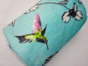 Microplush Blanket/Fleece Throw. Supersoft to touch. New Design. Hummingbird