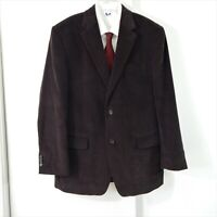 brown MICHAEL KORS jacket blazer sport coat corduroy cotton casual 2 btn 40 40R