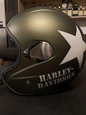 Harley Davidson Helm Motorradhelm Jethelm Olive Denim Mit Stern Gr. L