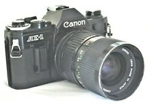Canon Black AE-1 Film Camera w New FD 35-70mm f/4 Lens Excellent
