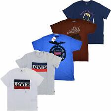 """Levis мужские футболки короткий рукав графический логотип """"летучая мышь"""" с круглым воротом новая S M L Xl Xxl"""