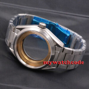 brushed 41mm 316L steel sapphire glass Watch Case fit 2824 2836 8215 MOVEMENT
