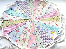 60 ft/18m. FLORAL BUNTING .WEDDINGS vintage shabby chic mixed 3 x 20gd