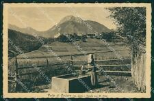Belluno Valle di Cadore Monte Rife cartolina QT0864