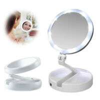 10x Magnifying Makeup Mirror Beauty Stand Double Side with LED Light Cosmetic