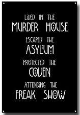 American Horror Story Letrero De Metal, gente normal asustarme, Imperio, Freakshow, asilo