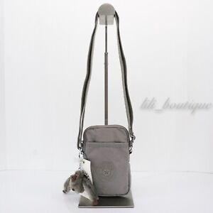 NWT New Kipling KI0271 Tally Mini Purse Crossbody Phone Bag Nylon Stormy Grey 44
