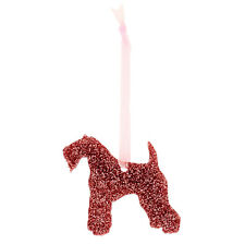 Kerry Blue Terrier Style A Glitter Christmas Decoration - 11 colour choices.