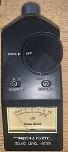 Radio Shack Sound Level Meter No 33-2050, case, owner's manual and box.