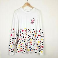 Walt Disney World Spirit Jersey XXL Minnie Mouse Rock The Dots Sparkle LS