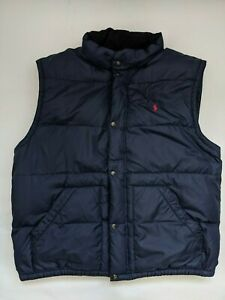 Authentic Polo Ralph Lauren Body Warmer/Gilet Jacket, Navy Blue, Real Down, 3XL