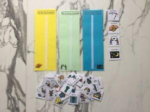 PECS/Boardmaker 3x AM/PM schedule strips & 36 Cards for Autism/SEN/ASD/ADHD