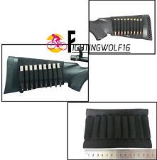 9 Rifle Bullet Holder Bandolier Butt Stock Shell Cartridge Ammo Shell Holder Bag