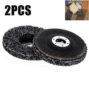 "2PCS 4"" Flap Discs Wheels 46# Grit Grinding Metal Descaling Angle Grinder 100mm"
