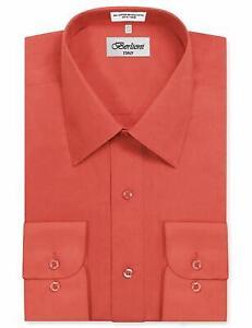 Berlioni Italy Men's Premium Classic French Convertible Cuff Solid Dress Shirt