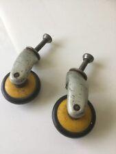 Vintage Homa ruedas Marshall Gabinete Altavoz ruedas 1 Par de Color Amarillo Retro