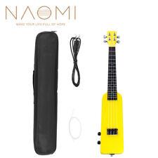 """NAOMI 23"""" Okoume Electric Ukulele Concert Silent Electric Ukulele Yellow SET"""