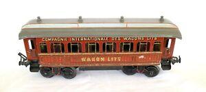 AC1804A: Early Bing Gauge1 Wagon-Lits Passenger Coach 10242