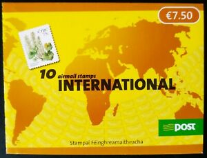 IRELAND 2006 FLOWERS BOOKLET COMPLETE PANE OF 10 x 75c S/A ISSUE MNH SG SB127