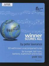 Winner Scores All Trumpet Baritone Euphonium Trombone TC Sheet Music Book/cd