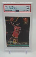 1992-93 Fleer Ultra MICHAEL JORDAN PSA 9 MINT #216 Dunk HOF Bulls New Label