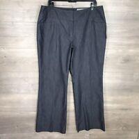 APT. 9 Women's Size 14 Curvy Fit Straight Leg Pants Chambray Blue NEW