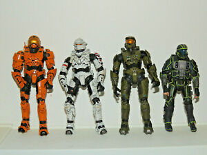 McFarlane Halo Reach 5 inch figures Action Figure lot of 4!