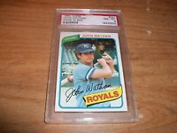 1980 Topps Baseball John Wathan Graded Card Name In Red Royals PSA NM-MT 8